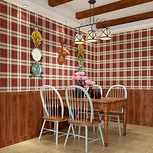 Kinderzimmer Tapete einfache amerikanische Tapete Nordic England Karo Hauptschlafzimmer Kinderzimmer...