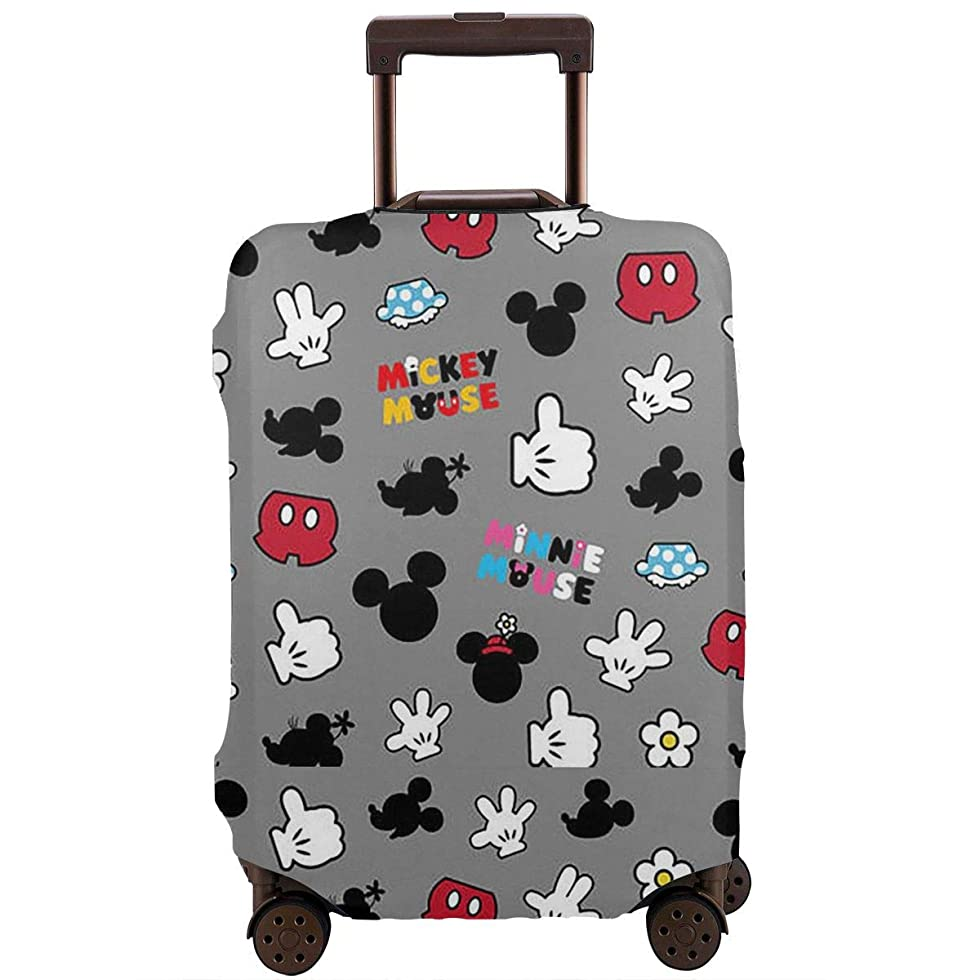 自我ウェーハ抜本的なスーツケースカバー ミニーマウス 防水 傷防止 防塵 出張 旅行 キャリーカバー ラゲッジカバー かわいい トランクカバー おしゃれ S M L Xl