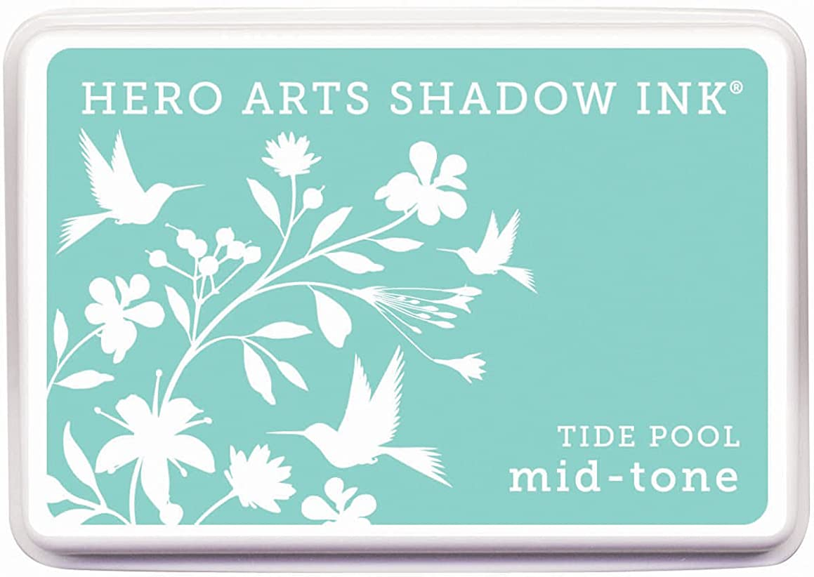 Hero Arts Rubber Stamps Tide Pool Mid-Tone Shadow Ink Stamp Pad (AF223)