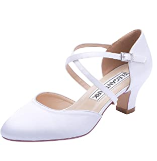 Amazon.es: Satén - Zapatos de tacón / Zapatos para mujer: Zapatos ...
