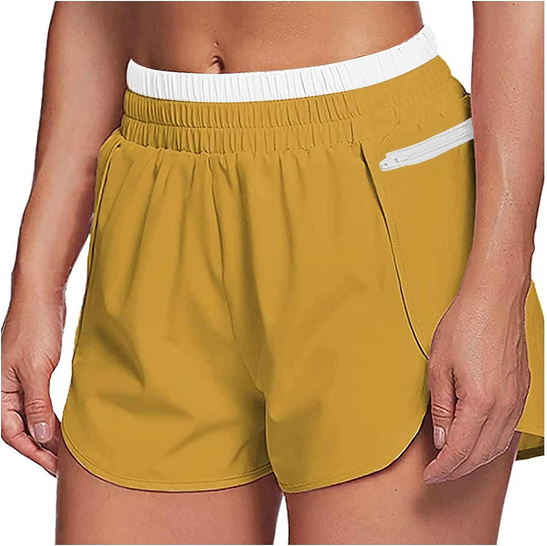 FlekmanArt Womens Workout Shorts Athletic B Superlatite Gym Dry Elegant Quick