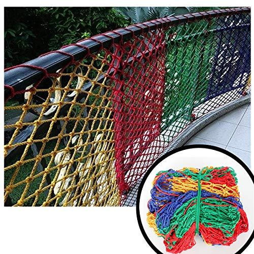 ZGQSW Kindersicherheitsnetze, Seildicke 6mm, 5 cm Maschenweite, Spielplatz Spielnetz Kindertreppe Anti-Fall-Netz Isolationsnetz Gartenpflanzenzaun Frachtnetz (Size : 1 * 1M)