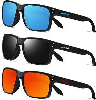 Polarized Square Sunglasses For Men and Women Matte...