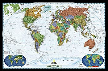 National Geographic  World Decorator Wall Map - Laminated  46 x 30.5 inches   National Geographic Reference Map