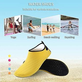 Tickas Anti-Slip Shoes,Women Water Shoes Aqua Socks Anti-Slip Breathable Lightweight Soft Barefoot Yoga Surfing Swimming Shoes