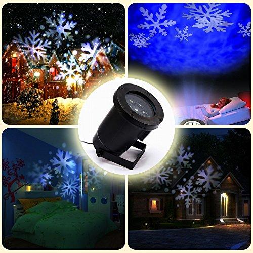 sealands LED Effet lumineux 4 couleurs flocons de neige Mur de Jardin Lampe  éclairage dynamique pour Noël Halloween mariage fête décoration Moderne ...