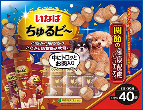 いなば 犬用おやつ ちゅるビ~ 関節の健康配慮バラエティ 10g×40袋