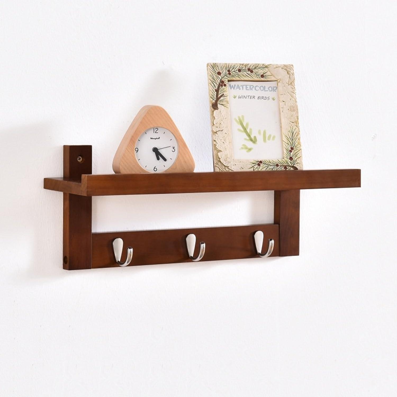 Wall Mounted Coat Rack, Wall-Hung Coat Hooks,Bedroom Living Room Entrance Creativity Simple Modern Solid Wood Wall-Mounted Coat Racks. (Size   48  12.5cm)