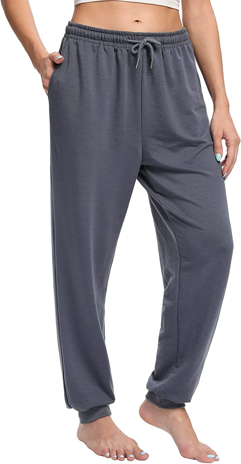 ASIMOON Womens Yoga Max 69% OFF Sweatpants Comfy High Jogger Al sold out. Pants Waisted D
