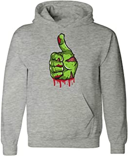Groovy Gifts For All A Bloody and Scary Zombie Thumbs Up - Hoodie
