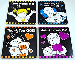 Set of Four Board Books for Babies/Young Children - God Made Me, Thank You God, Jesus Loves Me, and Now I Lay Me Down To Sleep by Twin Sisters