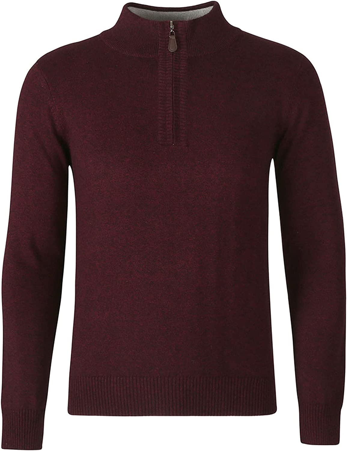 Men's Casual Warm Turtleneck Sweaters Winter 1/4 Zip Knitted Work Tops Long Sleeve Ribbed Pullover Sweater