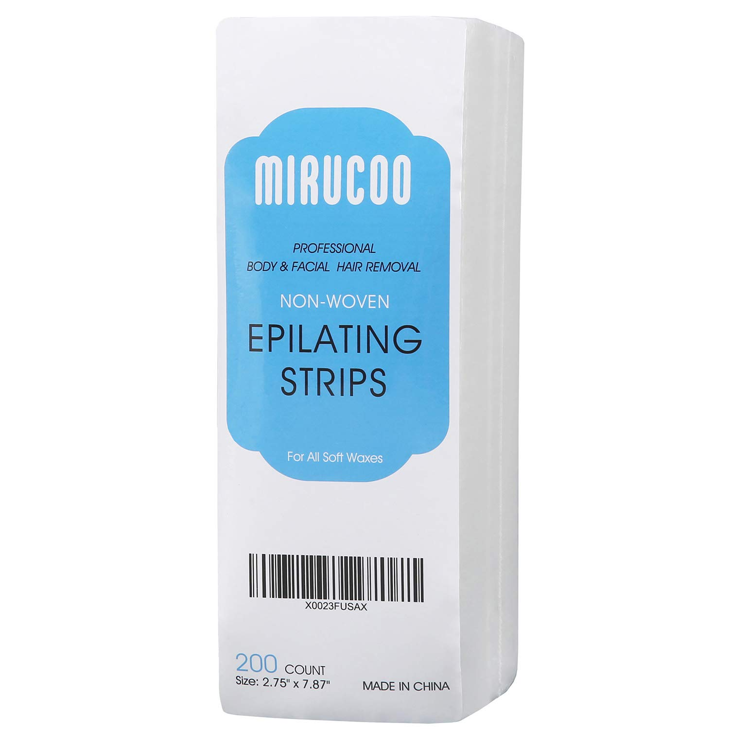 Mirucoo 200 Pieces Large Non Woven Wax Strips For Body And Facial