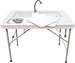 Coldcreek Outfitters, Outdoor Washing Table and Sink, Camping Furniture, Outdoor Recreation - Ultimate Workstation with Faucet