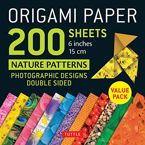 Origami Paper 200 sheets Nature Patterns 6 (15 cm): Tuttle Origami Paper: High-Quality Double Sided Origami Sheets Printed with 12 Different Designs (Instructions for 8 Projects Included)