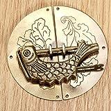 Las bisagras ornamentadas 1pc Antiguo Bronce Chino Old Lock + 1pc Vintage Caja de madera Muebles Muebles Manija Muebles Accesorios Retro Hardware