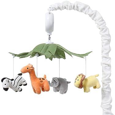 The Peanutshell Safari Animals Musical Crib Mobile for Baby Boys & Girls | Digital Music Box with 12 lullabies…