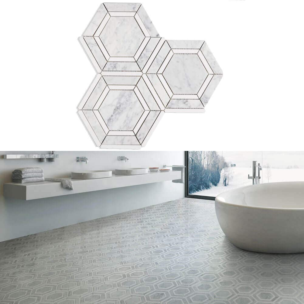 El Paso Mall Diflart Carrara Italian White Marble with Recommendation Cerrara Thassos