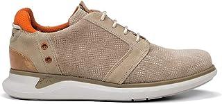Fluchos   Zapato de Hombre   Cooper F0745 Afelpado Taupe Comb 4   Zapato de Piel de Serraje   Cierre con Cordones   Piso EVA
