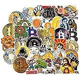 YOUYOU Bitcoin Dorji Coin Sticker Pack Para Diy Notebook Skateboard Laptop Guitarra A Virtual Criptomoneda Btc Sticker 50pcs