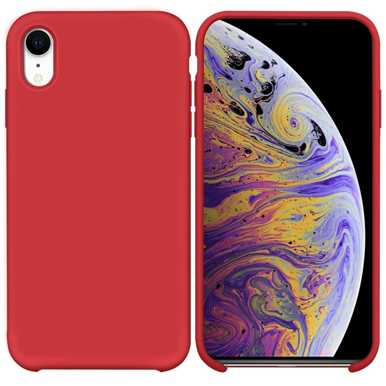 JonElaines iPhone XR Case Anti-Slip Liquid Silicone Gel Rubber Bumper Case with Soft Microfiber Lining Cushion Slim Hard Shell Shockproof Protective Case Cover Apple iPhone XR 6.1