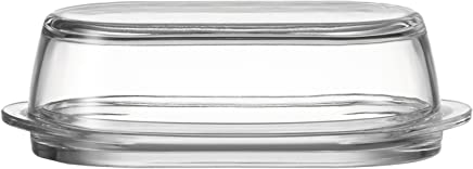 Preisvergleich für Leonardo 063690 Ciao Butterdose, Klarglas, Maße (B/H/T): 21/7,1/10,5 cm
