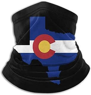 Colorado Flag Texas Outline Neck Warmer Gaiter Fleece Ski Face Mask Cover for Winter