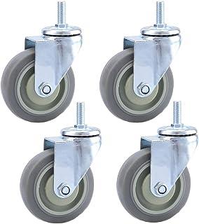Caster wielen 75MM/100M/125MM, zwenkwiel wiel, roterende draad wielen, grijs rubber, elk wiel heeft een laadvermogen van 1...
