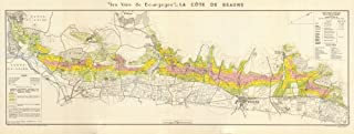 Burgundy Bourgogne Wine MAP La Côte de Beaune. Vineyards vignobles. LARMAT - 1953 - Old map - Antique map - Vintage map - Printed maps of France