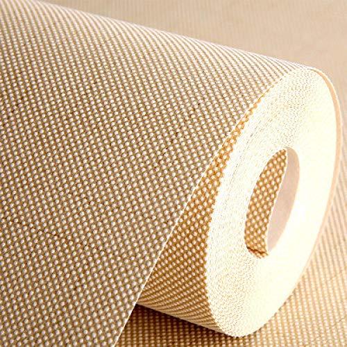 Uni behang voor thuisdecoratie, decoratie, eenvoudig behang, effen vliesbehang, linnen behang, doek, voor TV-muren, woonkamer, techniek, 1 rol 90025 Beige