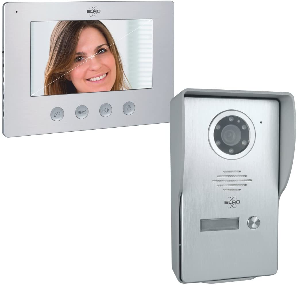 Elro DV477W Video Türsprechanlage – günstige 4-Draht Türsprechanlage mit Kamera