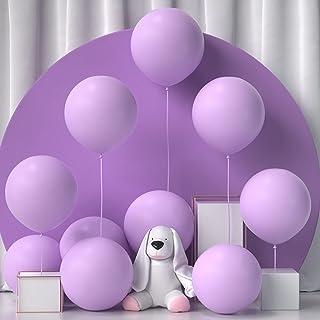 Honinda 18 inch Pastel Purple Balloons 10pcs Large Jumbo Macaron Light Purple Balloons Latex Party Balloons for Baby Showe...