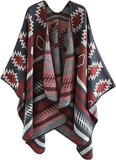 Byyong Womens Color Stitch Wool Geometric Patterns Printed Shawl Soft Neck Scarf