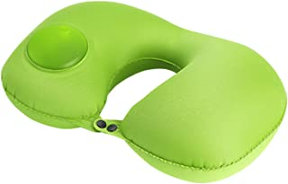 Portable Nap Pillow Outdoor Travel Home Office Neck Pillow Portable Journey Accessory Green