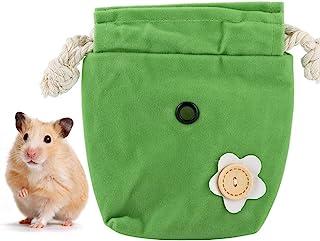 小型ペットキャリア、フランネルポータブル小型ペットキャリーバッグ、ハムスター動物リス用ウォッシュシュガーグライダー
