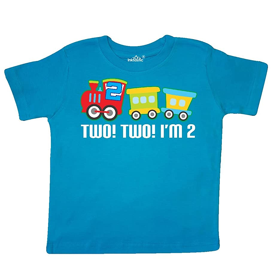 inktastic - 2nd Birthday Two Two Train Outfit Toddler T-Shirt 257f6