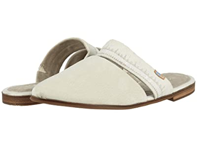 TOMS Jutti Mule (Off-White Nubuck/Embroidered Strap) Women