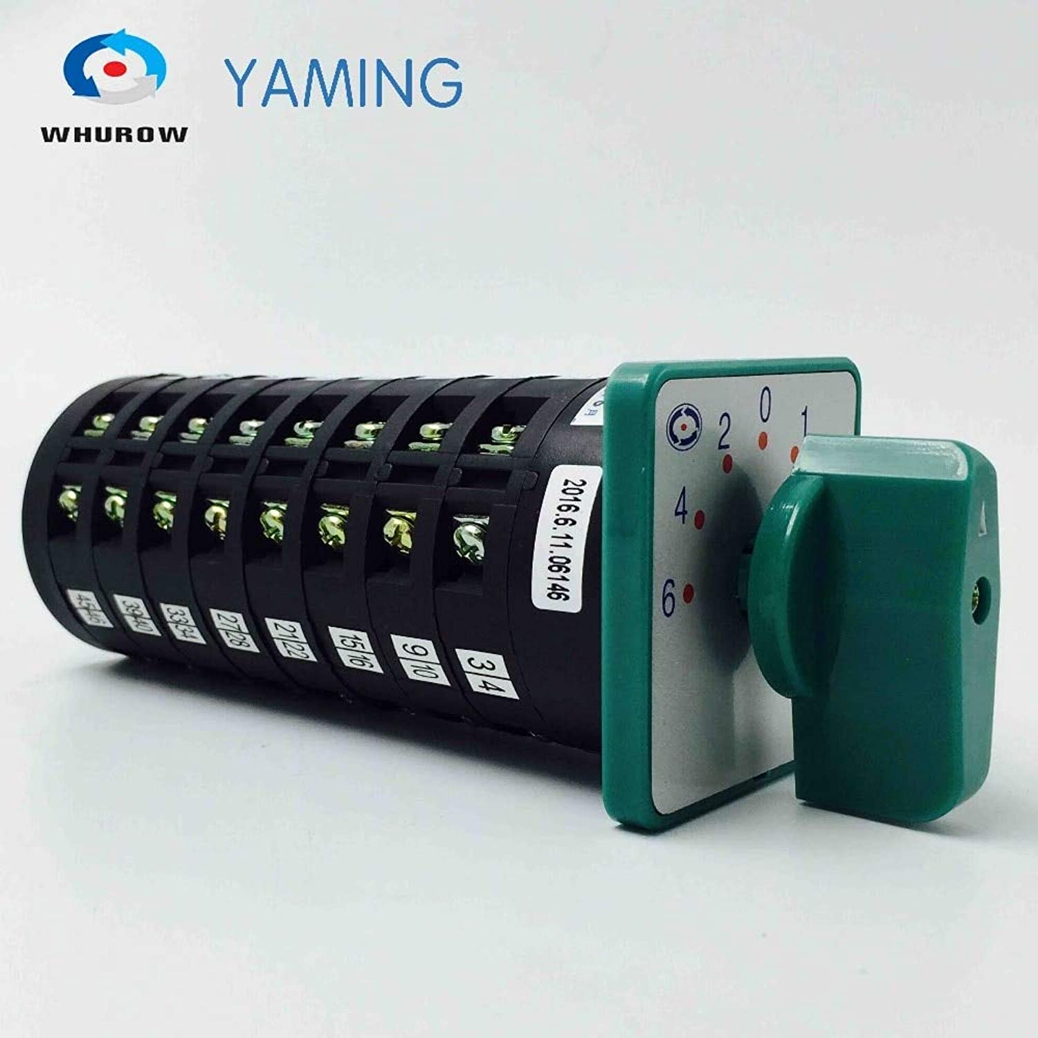 Yaming Electric 5A 380V redary cam Switch 6420135 Position 8 Poles Main Universal Changeover Switch LW68F432