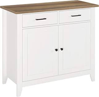 HOMECHO Kitchen Buffet Floor Cabinet, Sideboard Storage Cabinet with 2 Doors 2 Drawers, Wood Side Cupboard Table for Dinin...