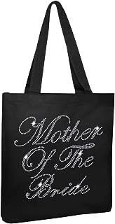 Varsany Black Luxury Crystal Bride Tote bag wedding party gift bag Cotton