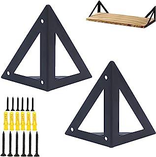 Ijzeren plankdragers, 2 stuks, multifunctionele plankhouder, rechthoekige houder, sterke beugels, geometrisch design, meta...