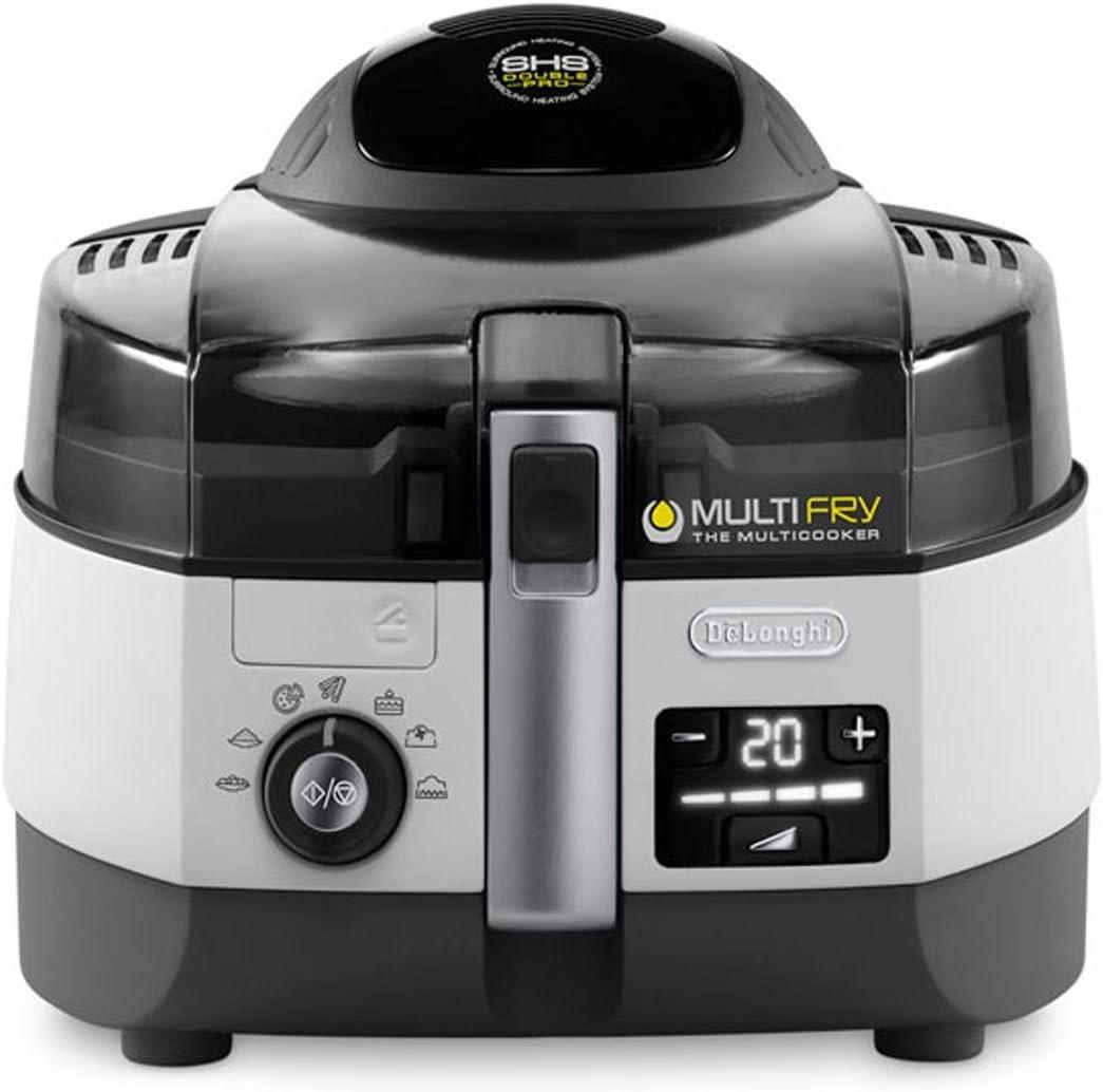 De'Longhi FH 1394/2 MultiFry Extra Chef - Freidora, 1,7 kg de capacidad, resistencia inferior de 800 W, panel de control digital LCD con 7 programas automáticos