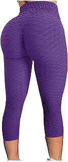 Riou Leggings Sportivi Donna Pantaloni Anticellulite Vita Alta Leggins Yoga Push Up Pants Fitness Elastico Opaco Resistent...