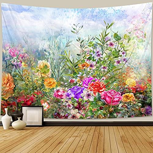 Pflanze Blume Tapisserie Bohemian Home Decor Hippie Psychedelische Szene Mandala Sofa Decke Hängendes Tuch A1 100x150cm