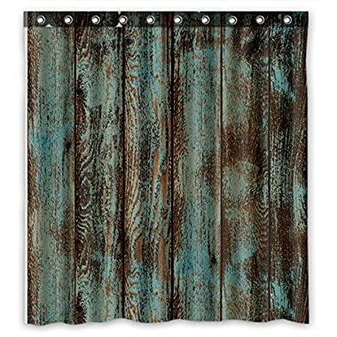 Welcome!Waterproof Decorative Rustic Old Barn Wood Art Shower Curtain 66 x72 -10