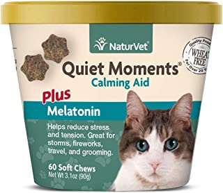 Sponsored Ad - NaturVet –Quiet Moments Calming Aid for Cats Plus Melatonin – 60 Soft Chews – Helps Reduce Stress & Promote...