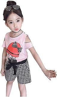 2点セット 女の子 キッズ 半袖 シャツ ショート パンツ