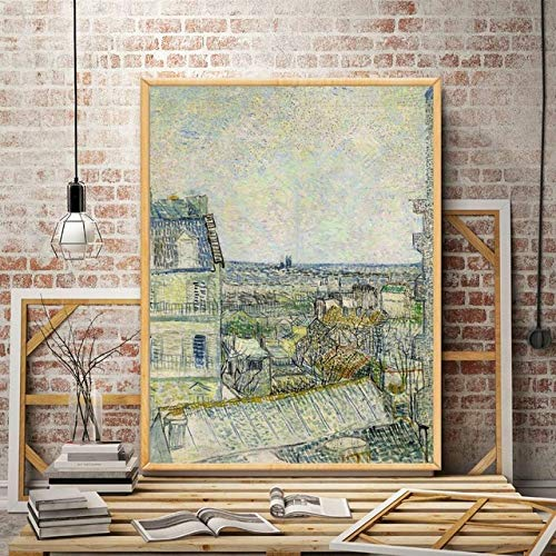 tzxdbh Cafe Restaurant Kirche Vincent Kunstwerk Kunst Silk Poster Home Deco Ölgemälde 12 x 16 18 x 24 24 x 32 30 x 40 Zoll ungerahmt