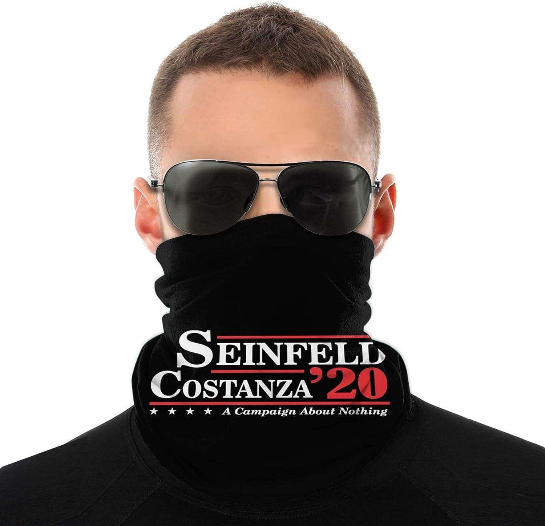 Seinfeld Costanza 2020 Dustproof Windproof Variety Head Scarf Balaclava for Women Men Face Mask White
