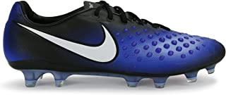 13516c573c77 NIKE Men s Magista Opus II FG Black White Paramount Blue Soccer Shoes